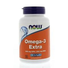 NOW Omega-3 Extra 500 mg EPA 250 mg DHA (90 softgels)