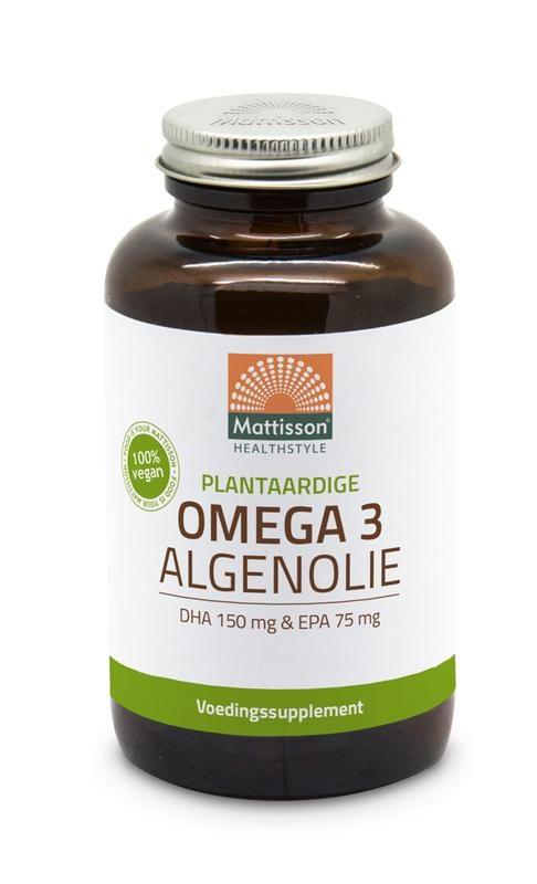 Mattisson Mattisson Vegan omega 3 algenolie DHA 150mg EPA 75mg (120 capsules)