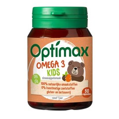 Optimax Kinder omega 3 sinaasappel (50 kauwcapsules)