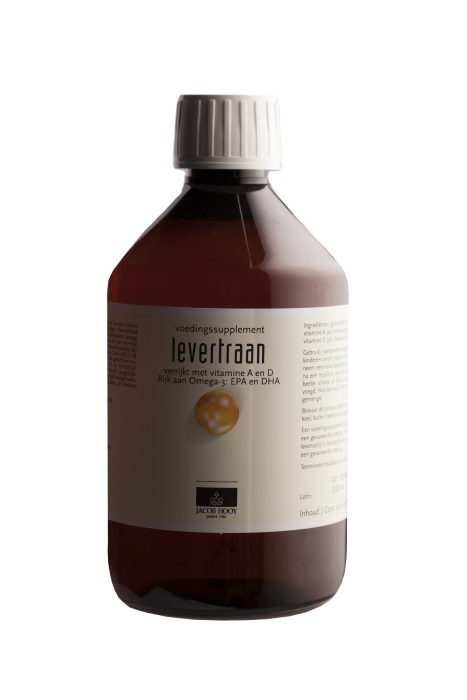 Jacob Hooy Jacob Hooy Levertraan/visolie vitamine A & D (500 ml)