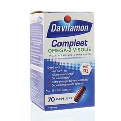 Davitamon Compleet omega 3 vis (70 capsules)