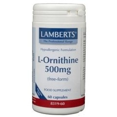 Lamberts L-Ornithine 500 mg (60 vcaps)