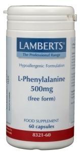 Lamberts Lamberts L-Phenylalanine 500 mg (60 capsules)
