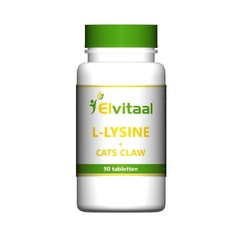 Elvitaal L-Lysine cats claw (90 tabletten)