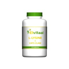 Elvitaal L-Lysine cats claw (270 tabletten)