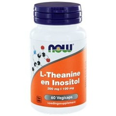 NOW L-Theanine 200 mg met Inositol 100 mg (60 vcaps)