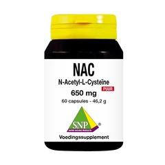 SNP N-acetyl L-cysteine 650 mg puur (60 capsules)
