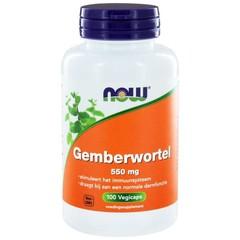 NOW Gemberwortel 550 mg (100 Vcaps)