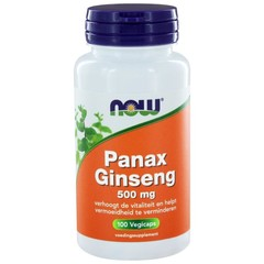 NOW Panax ginseng 500 mg (100 vega capsules)