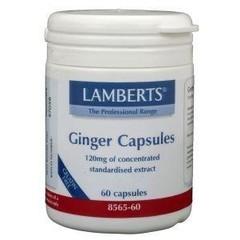 Lamberts Gember (ginger) (60 vcaps)