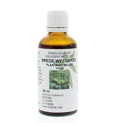 Natura Sanat Plantago major / brede weegbree tinctuur (50 ml)