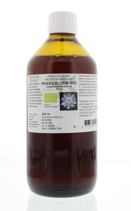 Natura Sanat Natura Sanat Passiflora incarnata herb/passiebloem tinctuur bio (500 ml)