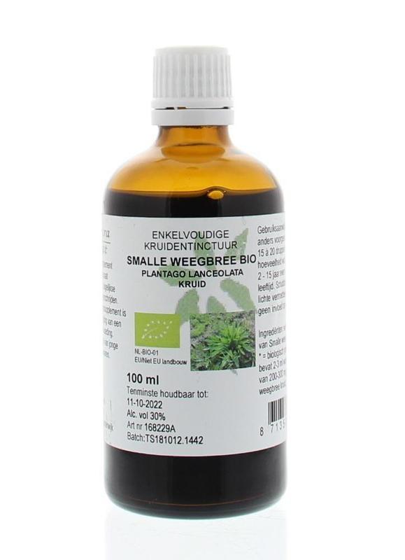 Natura Sanat Natura Sanat Plantago lanc / smalle weegbree tinctuur bio (100 ml)
