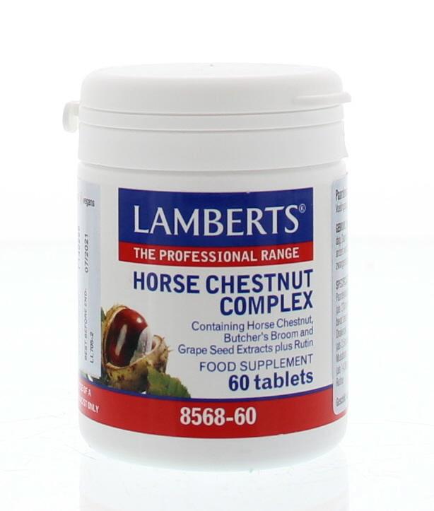Lamberts Lamberts Paardenkastanje complex (Aescine, Horse Chestnut) (60 tabletten)