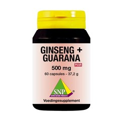 SNP Ginseng guarana 500 mg puur (60 capsules)