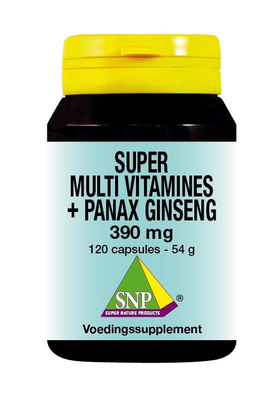 SNP SNP Super multi vitamines panax ginseng (120 capsules)