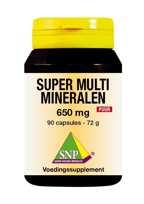 SNP SNP Super multi mineralen 650 mg puur (90 capsules)