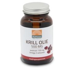 Mattisson Krill olie omega 3 500 mg (60 capsules)