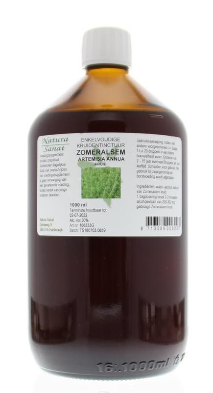 Natura Sanat Natura Sanat Artemisia annua / zomeralsem tinctuur (1 liter)
