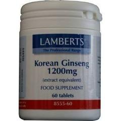 Lamberts Ginseng Koreaans 1200 mg (60 tabletten)