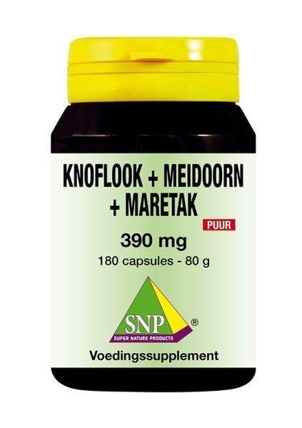 SNP SNP Knoflook-meidoorn-maretak 390 mg puur (180 capsules)