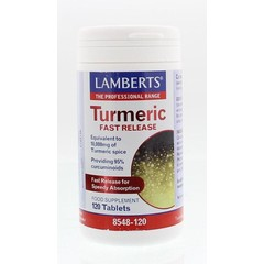 Lamberts Curcuma fast release (Turmeric) (120 tabletten)