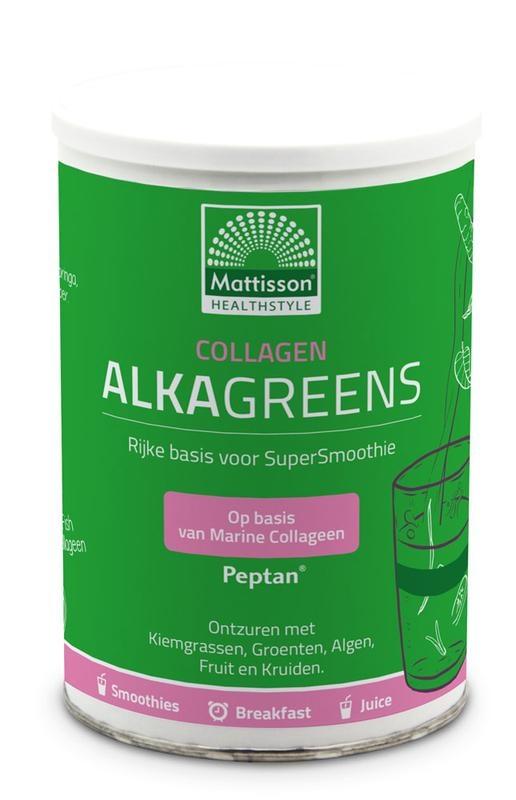 Mattisson Mattisson Collagen collageen AlkaGreens poeder (300 gram)