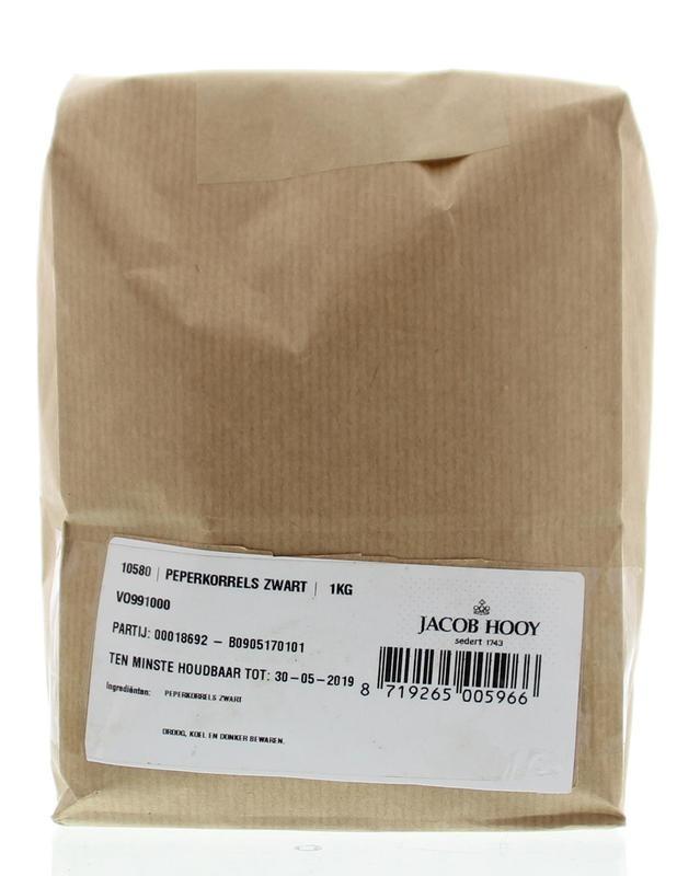 Jacob Hooy Jacob Hooy Peperkorrels zwart (1 kilogram)