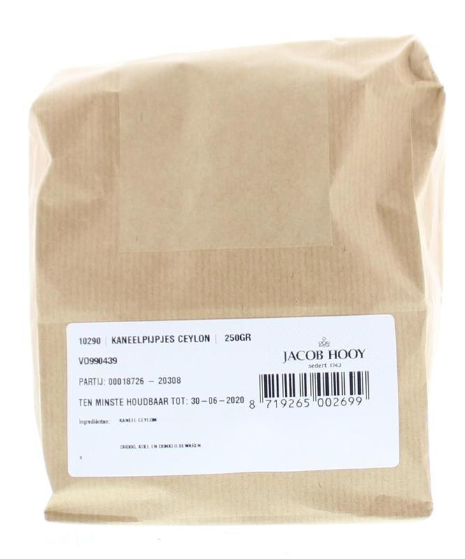 Jacob Hooy Jacob Hooy Kaneel pijpjes Ceylon (250 gram)