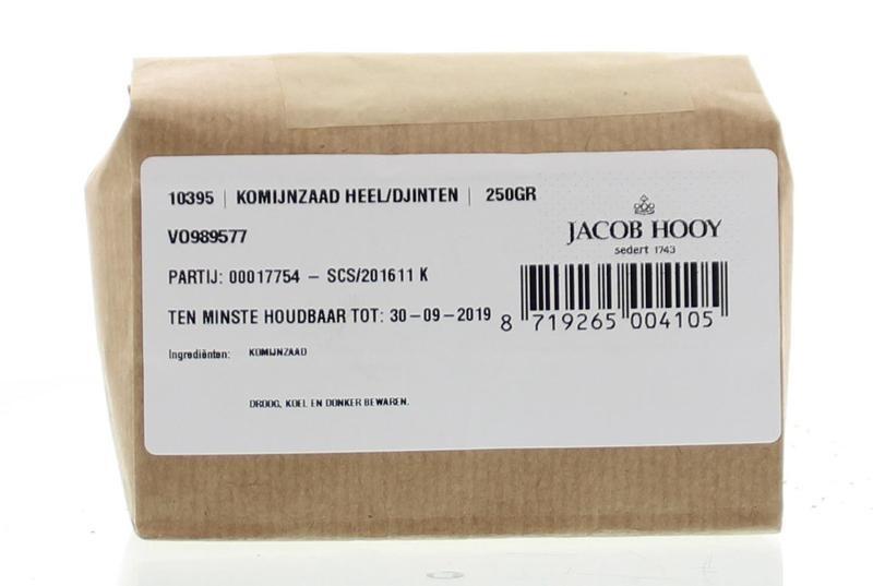 Jacob Hooy Jacob Hooy Komijnzaad heel / djinten (250 gram)