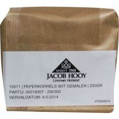 Jacob Hooy Peper wit gemalen (250 gram)