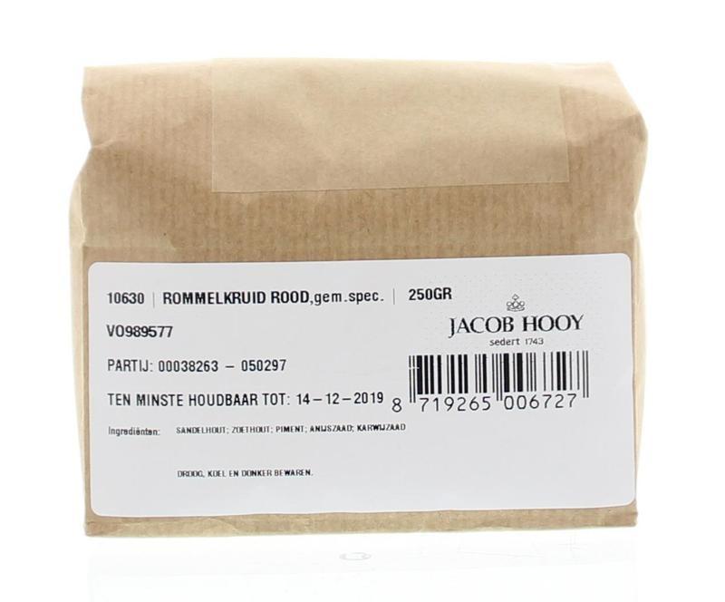 Jacob Hooy Jacob Hooy Rommelkruid rood (250 gram)