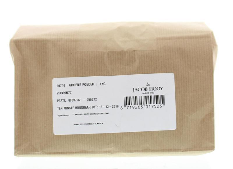 Jacob Hooy Jacob Hooy Groene poeder (1 kilogram)