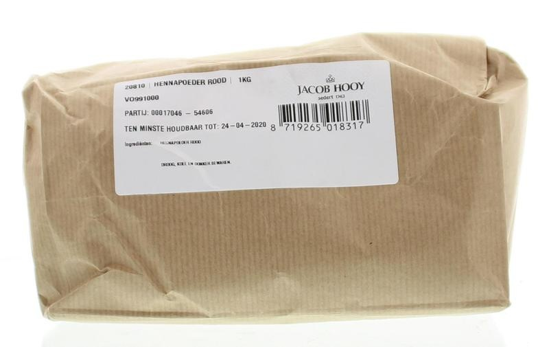 Jacob Hooy Jacob Hooy Hennapoeder rood (1 kilogram)