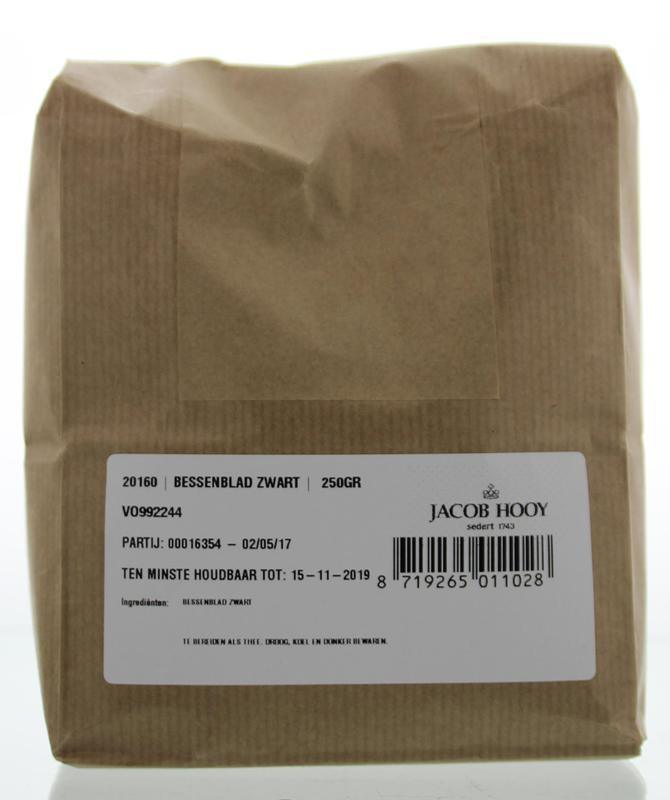 Jacob Hooy Jacob Hooy Bessenblad zwart (250 gram)