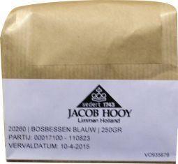 Jacob Hooy Jacob Hooy Bosbessen blauw (250 gram)