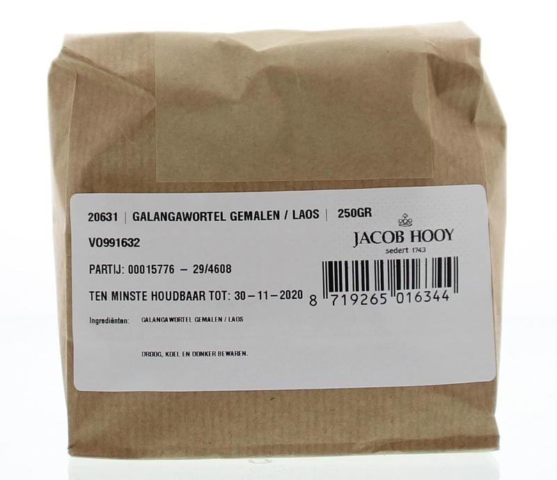 Jacob Hooy Jacob Hooy Galangawortel gemalen / laos (250 gram)