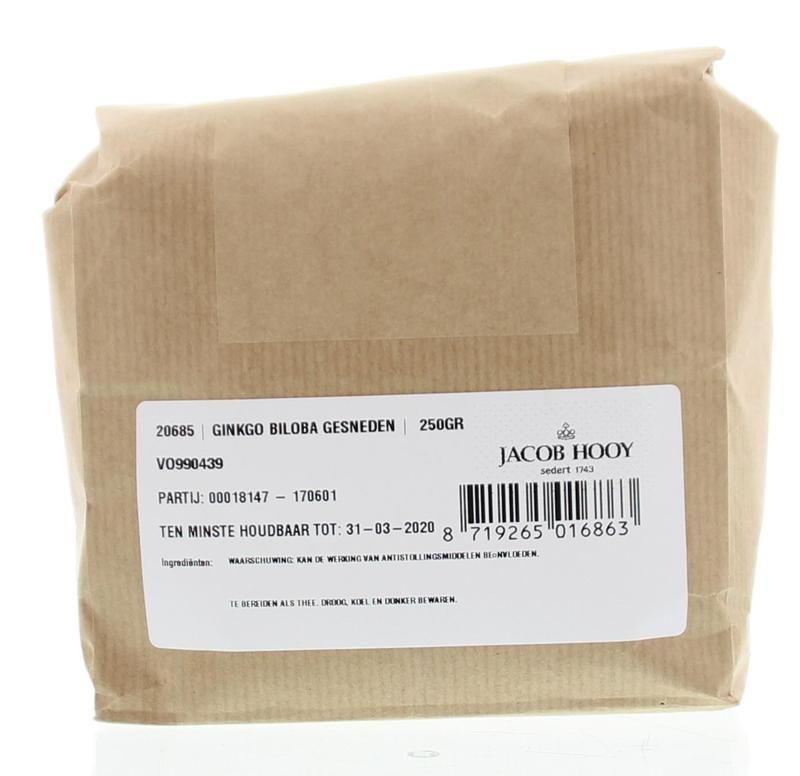 Jacob Hooy Jacob Hooy Ginkgo biloba gesneden (250 gram)