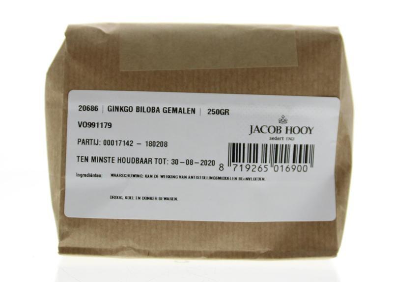 Jacob Hooy Jacob Hooy Ginkgo biloba gemalen (250 gram)