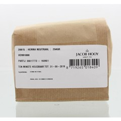 Jacob Hooy Hennapoeder neutraal (250 gram)