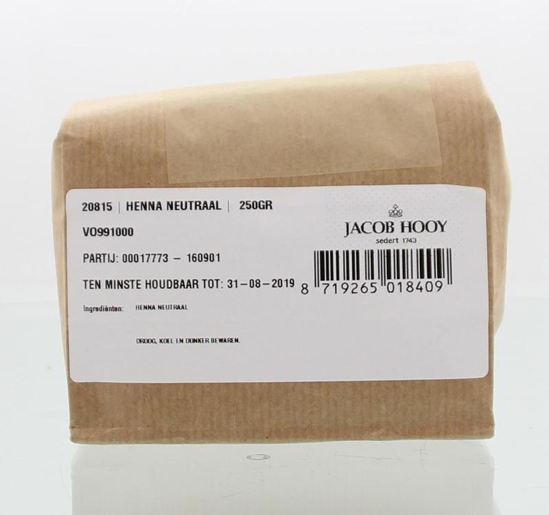Jacob Hooy Jacob Hooy Hennapoeder neutraal (250 gram)