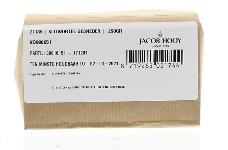 Jacob Hooy Jacob Hooy Klitwortel gesneden (250 gram)