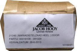 Jacob Hooy Jacob Hooy Mariadistelzaad (250 gram)