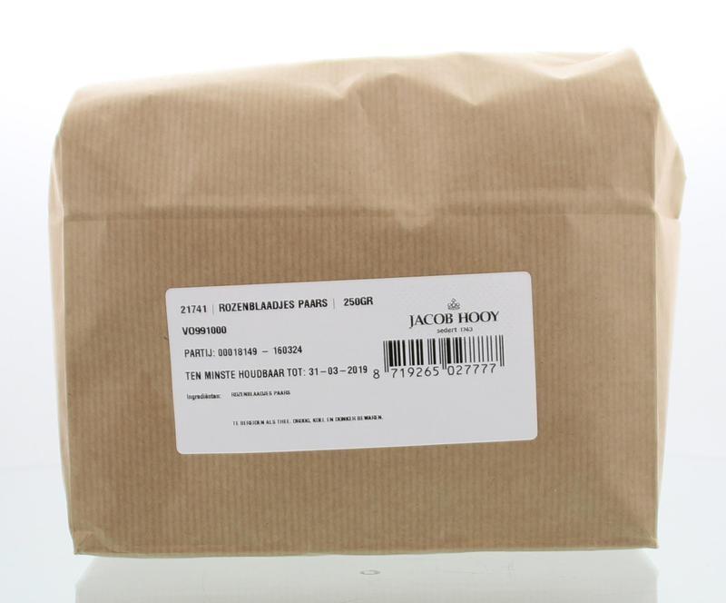 Jacob Hooy Jacob Hooy Rozenblaadjes paars (250 gram)