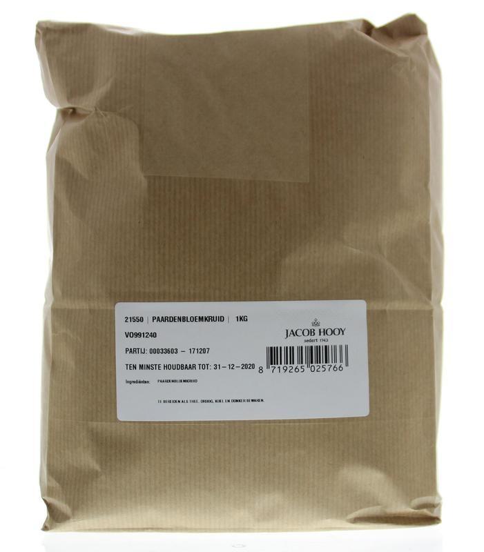 Jacob Hooy Jacob Hooy Paardebloemkruid gesneden (1 kilogram)