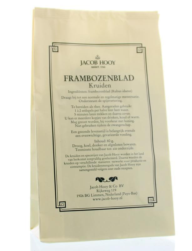 Jacob Hooy Jacob Hooy Frambozenblad (geel zakje) (80 gram)