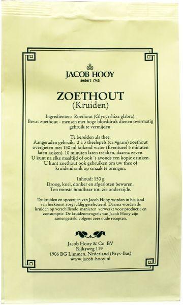 Jacob Hooy Jacob Hooy Zoethout gesneden geschild (geel zakje) (150 gram)