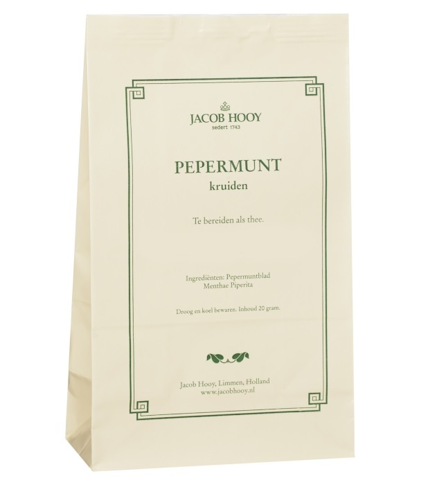 Jacob Hooy Jacob Hooy Pepermuntblad heel 1e kwaliteit (geel zakje) (20 gram)