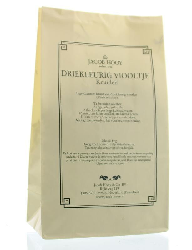 Jacob Hooy Jacob Hooy Driekleurig viooltje (geel zakje) (80 gram)