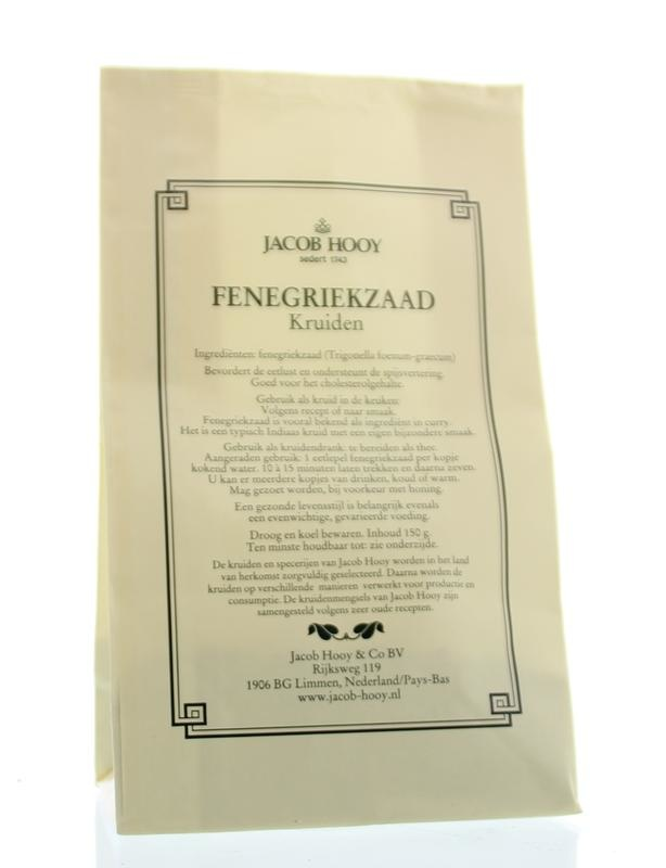 Jacob Hooy Jacob Hooy Fenegriekzaad (geel zakje) (150 gram)